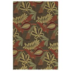 Kaleen�Home and Porch 5-ft x 7-ft 6-in Rectangular Multicolor Floral Indoor/Outdoor Area Rug