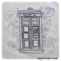 Up and Downy Stuff in a Big Blue Box (A belated Twelfth Week of the Doctor Who Stitch-A-Long) Doctor Who Embroidery, Doctor Who Craft, Hello Sweetie, Geek Crafts, Geek Out, Tardis, Embroidery Patterns, Nerdy, Design Art