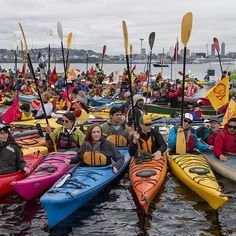 The #PaddleInSeattle is wrapping up, but our #peoplepower only grows stronger!  #PeopleVsShell #ShellNo #SaveTheArctic #kayaktivists #activism