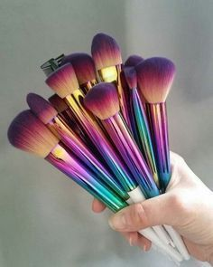 rainbow brushes.