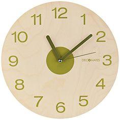 DecoMates Wall Clock, Wooden Olive DecoMates http://www.amazon.com/dp/B00K0MIZ96/ref=cm_sw_r_pi_dp_ht7Xvb18A0W4P