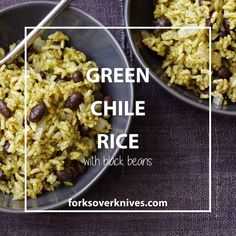 Green Chile Rice Recipe with Black Beans