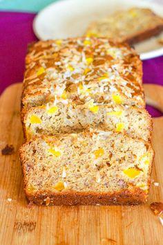 favorite banana bread recipe, White Chocolate Mango Banana Bread!