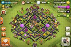 th 8 clash of clans Trophy base- I'm going to have to take this one for my town hall 8.