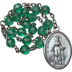 Healing Green Chaplet of St. Dymphna from vintage-venerations on Ruby Lane