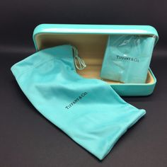 Tiffany & Co Eyeglasses Sunglasses Hard Case ONLY w/Soft Pouch and Cloth