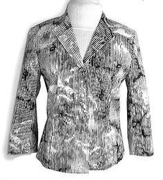 ☆★☆ BLACKY DRESS Designer Blazer Gr. 36  Schwarz Weiß ☆★☆ €19.90