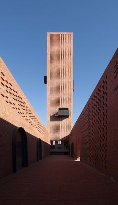 Interval Architects completes Tower of Bricks botanic art centre in China Brick Architecture, Futuristic Architecture, Residential Architecture, Contemporary Architecture, Amazing Architecture, Architecture Details, China Architecture, Architecture Facts, Computer Architecture