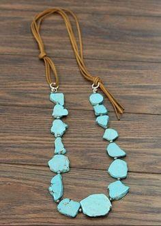 Jessie Stone Necklace (Turquoise)