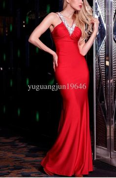 Wholesale 2012 new RED evening dress fell to the ground long section of the dress evening gown 2085, Free shipping, $95.2-100.8/Piece | DHgate
