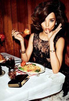 terry richardson / Mad Tea Party - Fashion Editorial, Food and Fashion / Miranda Kerr