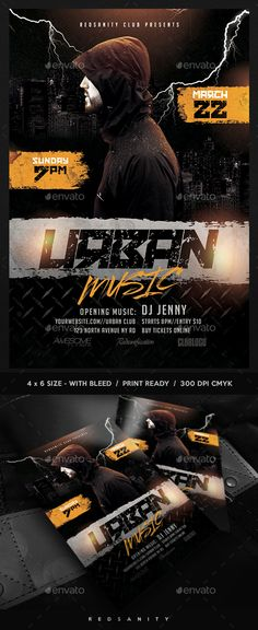 #Urban #Music #Flyer - Clubs & Parties Events