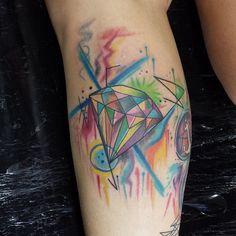 Diamond full collor tattoo