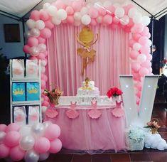 Decoración bailarina. Ballerina Birthday Parties, Ballerina Party, Princess Birthday, Baby Birthday, Balloon Decorations, Birthday Party Decorations, Ballet Cakes, Ballerina Baby Showers, Quinceanera Party