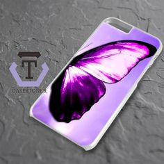 Purple Butterfly On The Sky iPhone 6 Plus|iPhone 6S Plus Black Case