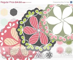 #WEEKEND #SALE 50 OFF Doily clip art set mix and by ArigigiPixel, $2.25