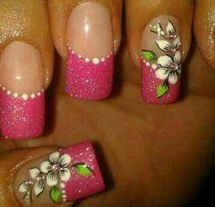 Toe Nails, Acrylic Nails, Nail Designs, Hair Beauty, Lily, Nail Stickers, Nail Art, Designed Nails, Gorgeous Nails