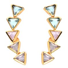 KORA EAR CLIMBERS ♥ Really want these in Lapis / chrysoprase / moonstone & 18k rose vermeil. next on my list :D