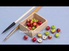 Miniature Apples in their Crate, Time Lapse Video, Minifood Tutorial - YouTube