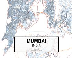 Mumbai - India. Download CAD Map city in dwg ready to use in Autocad. www.mapacad.com