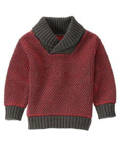 NWT Gymboree Boys SWEATER WEATHER Shawl Collar Pullover Sweater Red Gray Size 4T #Gymboree #Pullover #CasualEverydayHoliday
