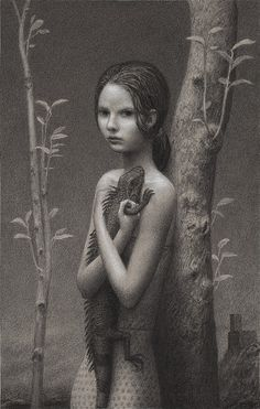 """Thicket    Aron Wiesenfeld ©2009, charcoal on paper, 20""""x12"""""""