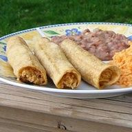 Easy Chicken Taquitos | This easy Mexican recipe is a terrific use for leftover chicken.