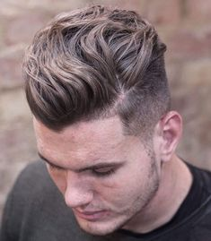 Wavy Hairstyles - High Fade, Medium Wavy Hair
