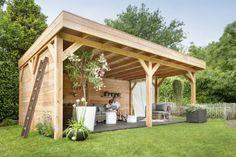 Douglas Overkapping 600 x 400 Wood Pergola, Pergola Patio, Gazebo, Wood Post, My Dream Home, Outdoor Structures, House, Interior, Garden