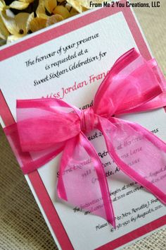 Hey, I found this really awesome Etsy listing at http://www.etsy.com/listing/119944931/quinceanera-invitation-sample-hot-pink