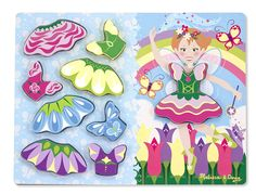 Melissa & Doug Fairy Dress Up Wooden Chunky Puzzle Mix and Match Jigsaw . Buy Quality Toddler Toys From Green Ant Toys Online Toy Shop. Toddler Toys, Kids Toys, 2nd Birthday Gifts, Mix And Match Fashion, Online Toy Stores, Princess Dress Up, Fairy Crafts, Melissa & Doug, Fairy Dress