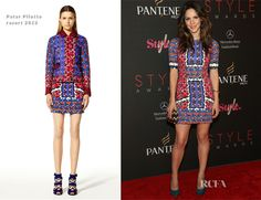 Love this print dress - I looked on eBay and whew this designer is expensive!! Katharine McPhee In Peter Pilotto - 9th Annual Style Awards
