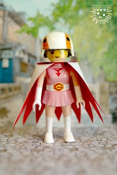 """Jun - """"The Swan"""" from Science Ninja Team Gatchaman"""" or Battle of the Planets - Playmobil figure"""