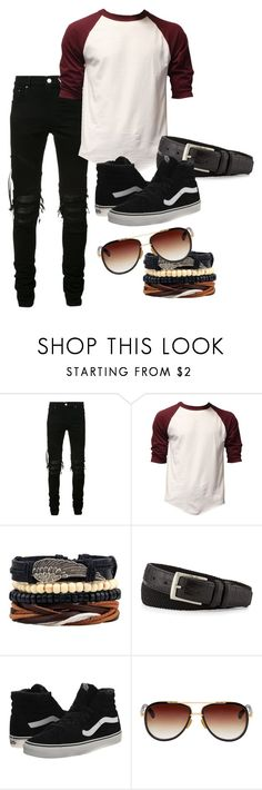 """Isaac"" by trippingonunicorns ❤ liked on Polyvore featuring AMIRI, Neiman Marcus, Vans, Dita, men's fashion, menswear and StreetStyle"