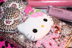Hello Kitty Strawberry Baby Bling Iphone 4/4s Case by slave2beauty, $100.00