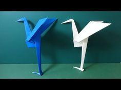"""折り紙「足のある鶴」折り方Origami """"crane with a leg"""" - YouTube"""
