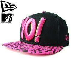 """【ニューエラ】【NEW ERA】9FIFTY MTV """"YO MTV RAPS"""" ブラックxストロベリーピンク レオパード スナップバック【CAP】【newera】【snap back】【帽子】【ラップ】【豹柄】【黒】【BLACK】【キャップ】【蛍光】【あす楽】【楽天市場】"""