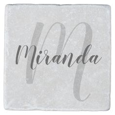 Shop Modern Script Personalized Monogram and Name Stone Coaster created by manadesignco. Personalize it with photos & text or purchase as is! Script Font Style, Modern Script Font, Name Gifts, Thank You Gifts, Hostess Gifts, Holiday Gifts, Bridesmaid Gifts, Bridesmaids, Stone Coasters