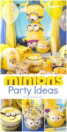 Minions Party Ideas - fun food ideas, decor, and more! #MinionsParty #ad