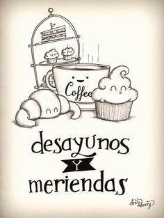 Dirty Harry - Desayunos y meriendas Cafe Logo, Bakery Logo, Cafe Design, Logo Design, Moleskine, Bakery Business, Cafe Bar, Letter Art, Food Art