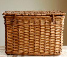 Woven Lidded Basket.