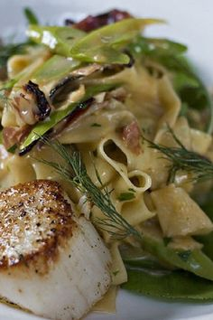 Pappardelle with Scallops