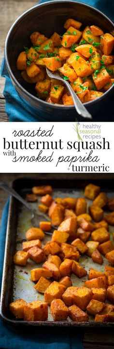 AD: Roasted Butternut Squash with Smoked Paprika and Turmeric | Paleo and Vegan | Healthy Seasonal Recipes