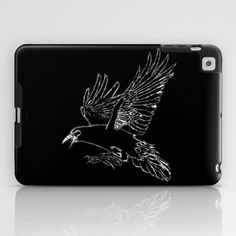 The Rook (Black) iPad Case by Robert Lee - $60.00 #art #graphic #design #iphone #ipod #ipad #galaxy #s4 #s5 #s6 #case #cover #skin #colors #mug #bag #pillow #stationery #apple #mac #laptop #sweat #shirt #tank #top #clothing #clothes #hoody #kids #children #boys #girls #men #women #ladies #lines #love #colour #rook #raven #crow #light #home #office #style #fashion #accessory #for #her #him #gift #want #need #love #print #canvas #framed #Robert #S. #Lee