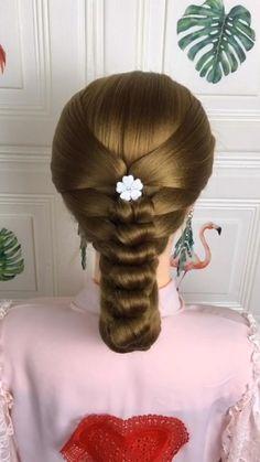 Pretty Braided Hairstyles, Cute Hairstyles For Medium Hair, Bride Hairstyles, Headband Hairstyles, Hair Styles 2016, Curly Hair Styles, Crazy Braids, Long Hair Designs, Hair Style Vedio