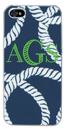 Custom Nautical Monogram Cell Case iphone 5/5s $12 | Customized in Orlando | MadetoALTR.com