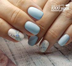 Ideas For Nails Acrylic Classy Nailart Shellac Nails, Diy Nails, Spring Nails, Summer Nails, Dragonfly Nail Art, Gel Nagel Design, Stylish Nails, Gel Nail Art, Nail Nail