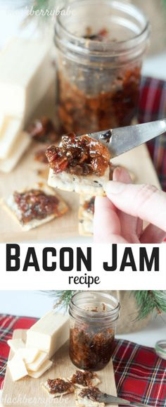 Sweet, salty and savory with brown sugar. Spread on crackers, bruschetta, baked brie or top baked potatoes or grilled meat! So versatile, and so yummy. The BEST Homemade Bacon Jam Recipe - Bacon Recipes, Jam Recipes, Canning Recipes, Holiday Recipes, Bacon Jam Recipe Canning, Jalapeno Recipes, Maple Bacon Jam Recipe, Burger Recipes, Christmas Recipes