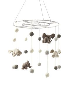 Felted Wool Animal Mobile – Elephants - A favorite safari animal meets a beautifully hand-crafted piece. Each little elephant and felted wo - Safari Nursery, Elephant Nursery, Nursery Room, Nursery Ideas, Room Ideas, Nursery Furniture, Nursery Inspiration, Nursery Bedding, Baby Elephant