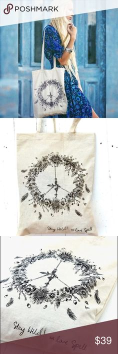 Spell & the gypsy tote bag🌵 Special edition tote stay wild bag. Exactly as shown  can be used as a purse, beach bag, grocery bag absolutely goes with everything!!!🔆 Spell & The Gypsy Collective Bags Totes